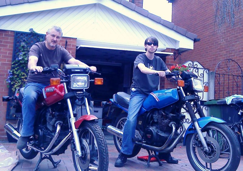 my son & I amost ready to ride